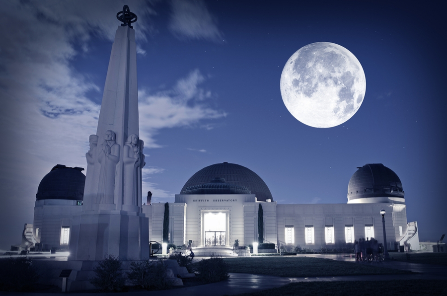 Famous Los Angeles Observatory - Griffith Observatory. Science Photography Collection. Griffith Observatory Los Angeles, California USA